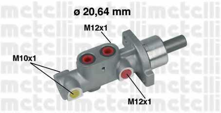 Главный тормозной цилиндр METELLI 05-0296 - изображение