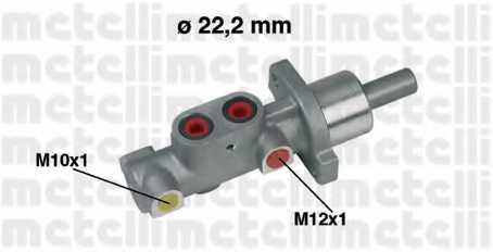 Главный тормозной цилиндр METELLI 05-0297 - изображение