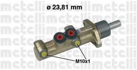 Главный тормозной цилиндр METELLI 05-0298 - изображение