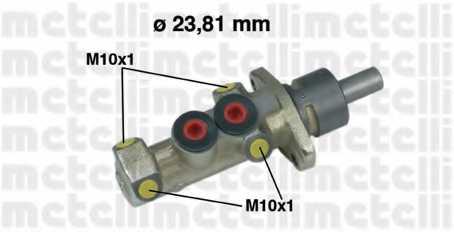 Главный тормозной цилиндр METELLI 05-0299 - изображение