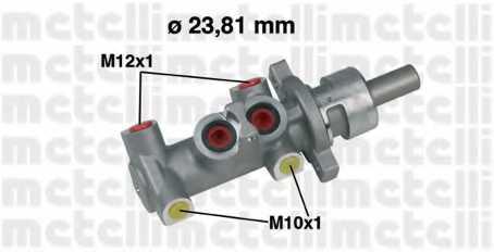 Главный тормозной цилиндр METELLI 05-0301 - изображение