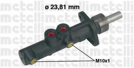 Главный тормозной цилиндр METELLI 05-0308 - изображение