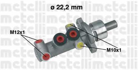 Главный тормозной цилиндр METELLI 05-0310 - изображение