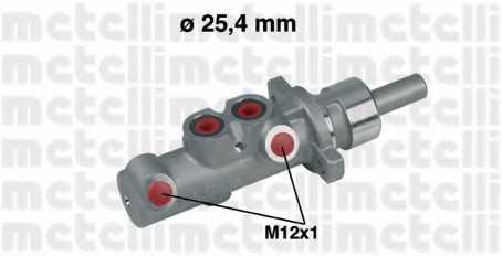 Главный тормозной цилиндр METELLI 05-0314 - изображение