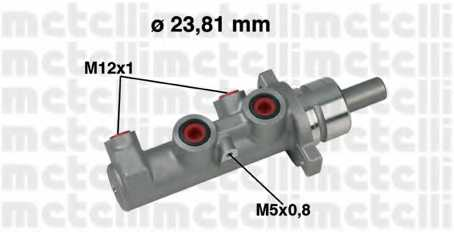 Главный тормозной цилиндр METELLI 05-0317 - изображение