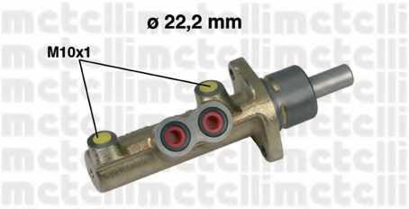 Главный тормозной цилиндр METELLI 05-0323 - изображение