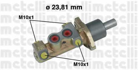 Главный тормозной цилиндр METELLI 05-0325 - изображение