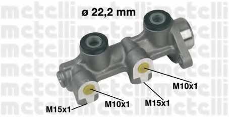 Главный тормозной цилиндр METELLI 05-0336 - изображение