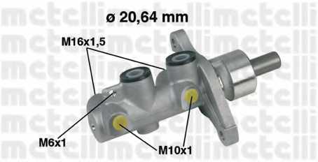 Главный тормозной цилиндр METELLI 05-0346 - изображение