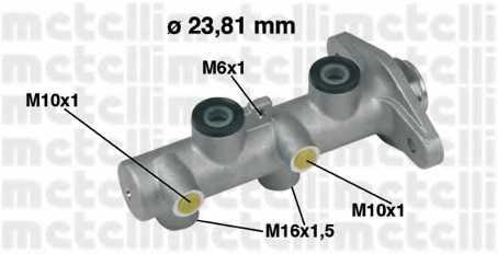 Главный тормозной цилиндр METELLI 05-0349 - изображение