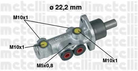 Главный тормозной цилиндр METELLI 05-0353 - изображение