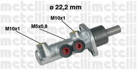 Главный тормозной цилиндр METELLI 05-0354 - изображение
