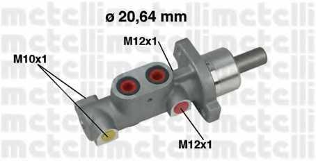 Главный тормозной цилиндр METELLI 05-0363 - изображение