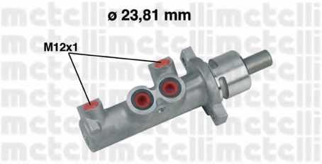 Главный тормозной цилиндр METELLI 05-0366 - изображение