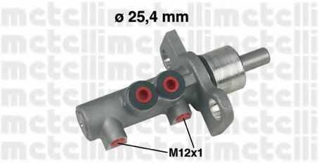 Главный тормозной цилиндр METELLI 05-0369 - изображение