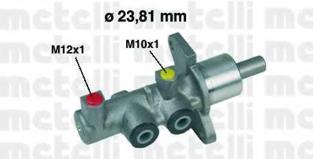 Главный тормозной цилиндр METELLI 05-0379 - изображение