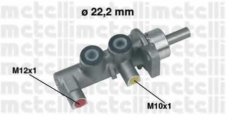 Главный тормозной цилиндр METELLI 05-0380 - изображение