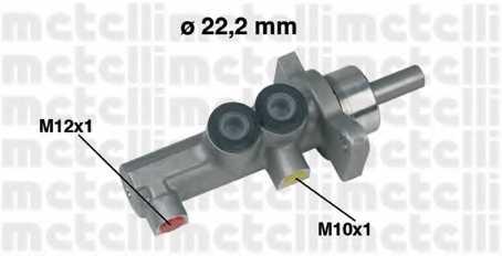 Главный тормозной цилиндр METELLI 05-0381 - изображение