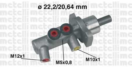 Главный тормозной цилиндр METELLI 05-0383 - изображение