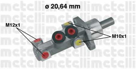 Главный тормозной цилиндр METELLI 05-0388 - изображение