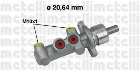 Главный тормозной цилиндр METELLI 05-0396 - изображение