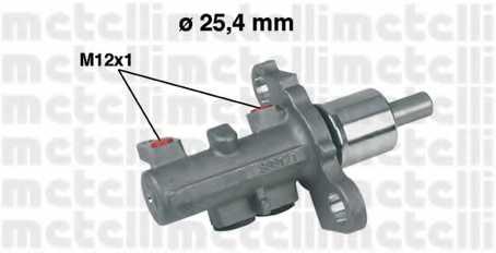 Главный тормозной цилиндр METELLI 05-0402 - изображение