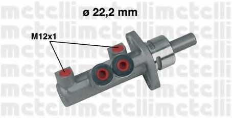 Главный тормозной цилиндр METELLI 05-0403 - изображение
