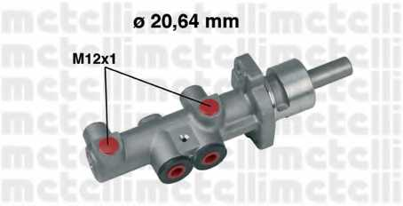 Главный тормозной цилиндр METELLI 05-0404 - изображение