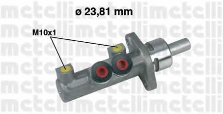 Главный тормозной цилиндр METELLI 05-0412 - изображение