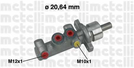Главный тормозной цилиндр METELLI 05-0416 - изображение