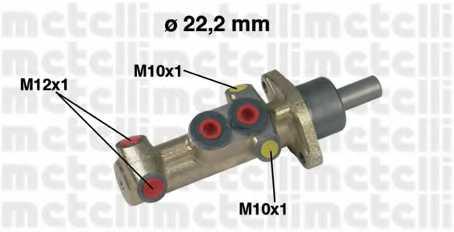 Главный тормозной цилиндр METELLI 05-0417 - изображение