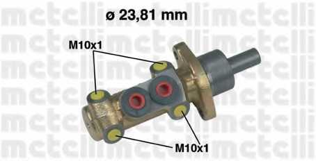 Главный тормозной цилиндр METELLI 05-0418 - изображение