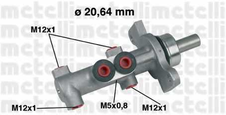 Главный тормозной цилиндр METELLI 05-0422 - изображение
