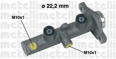 Главный тормозной цилиндр METELLI 05-0430 - изображение