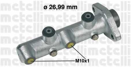 Главный тормозной цилиндр METELLI 05-0431 - изображение