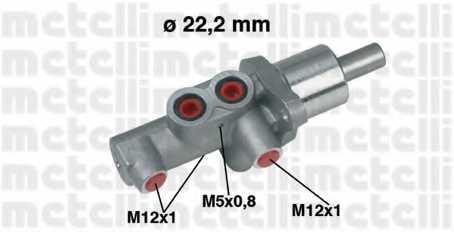 Главный тормозной цилиндр METELLI 05-0436 - изображение