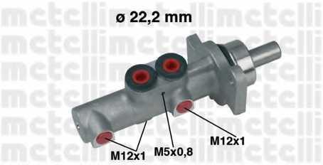 Главный тормозной цилиндр METELLI 05-0437 - изображение