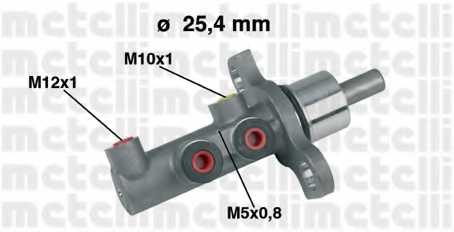 Главный тормозной цилиндр METELLI 05-0438 - изображение