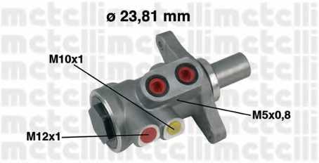 Главный тормозной цилиндр METELLI 05-0448 - изображение
