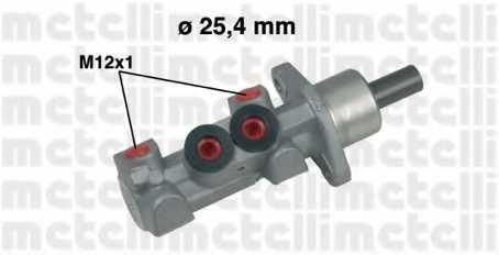 Главный тормозной цилиндр METELLI 05-0451 - изображение