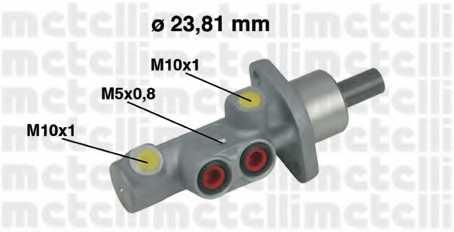 Главный тормозной цилиндр METELLI 05-0452 - изображение
