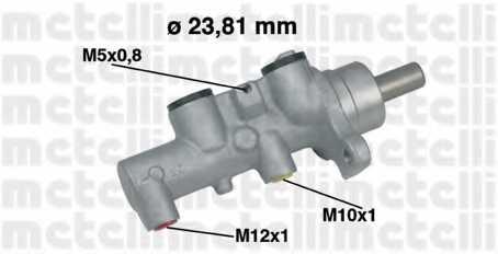 Главный тормозной цилиндр METELLI 05-0462 - изображение