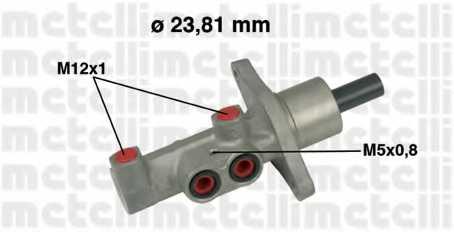 Главный тормозной цилиндр METELLI 05-0475 - изображение
