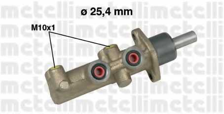 Главный тормозной цилиндр METELLI 05-0481 - изображение