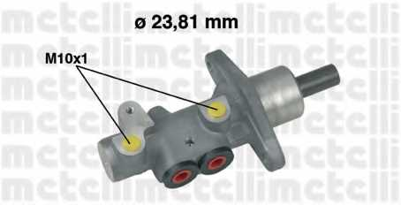 Главный тормозной цилиндр METELLI 05-0490 - изображение