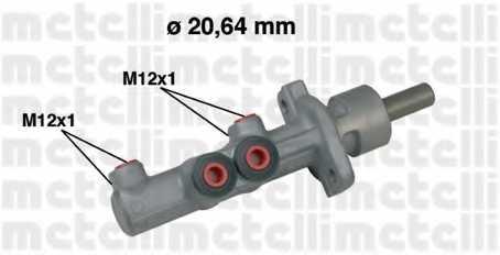 Главный тормозной цилиндр METELLI 05-0493 - изображение