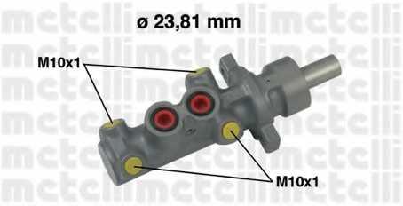 Главный тормозной цилиндр METELLI 05-0504 - изображение