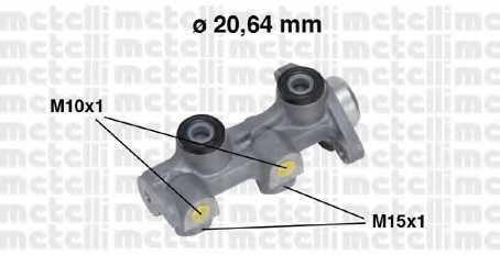 Главный тормозной цилиндр METELLI 05-0507 - изображение