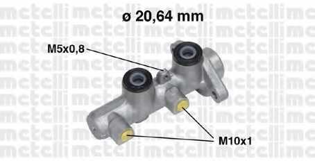 Главный тормозной цилиндр METELLI 05-0514 - изображение