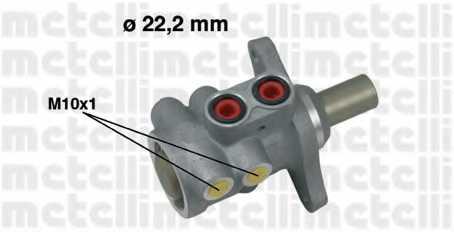 Главный тормозной цилиндр METELLI 05-0532 - изображение